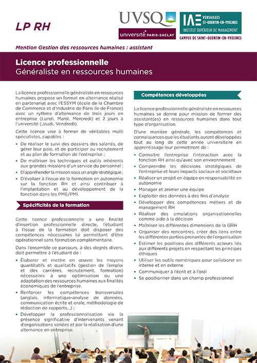 Licence Pro RH
